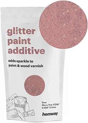 Hemway MICROFINE Glitter Paint Additive Emulsion Water Based Paints 100g (Rose Gold) ()