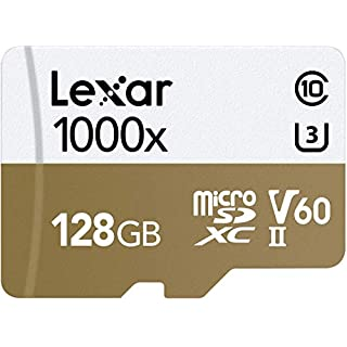 CRUCIAL TECHNOLOGY Professional 1000x microSDXC 128GB UHS-II/U3 (up to 150MB/s Read) with USB 3.0 Reader Flash Memory Card LSDMI128CBNL1000R
