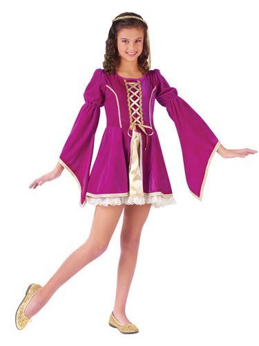 Girls Guinevere Medieval Queen Costume sz Small by Fun World -