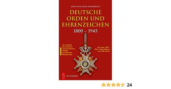 Deutsche Orden /& Ehrenzeichen 1800-1945 Nimmergut 21.Auflage 2017 Katalog