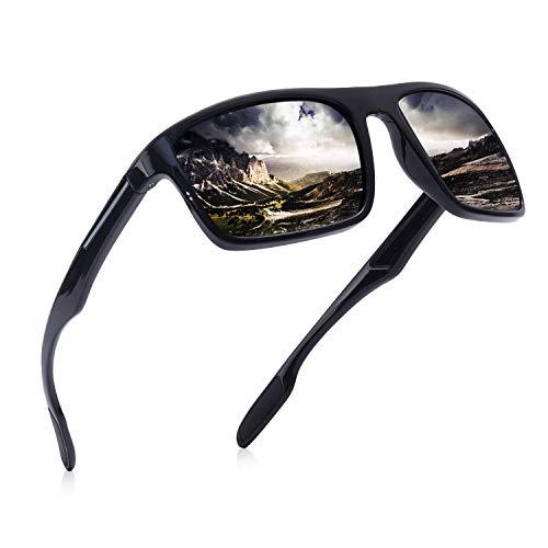 AOMASTE Polarized Sunglasses for Men Ultra Light TR90 Unbreakable Frame UV400 Protection TAC Lens for Driving Fishing