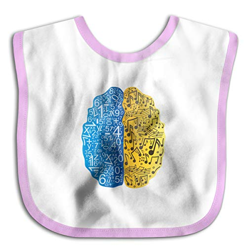 Left Is Math Right Is Music Funny Baby Bibs Burp Infant Cloths Drool Toddler Teething Soft Absorbent ()