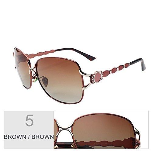tonos marca Brown gafas vintage Gafas Brown de TL polarizadas gafas de lentes sol de nariz Sunglasses pad Giada negro grande de de progresivas de metal mujer gafas sol gris Fnf1xnO6
