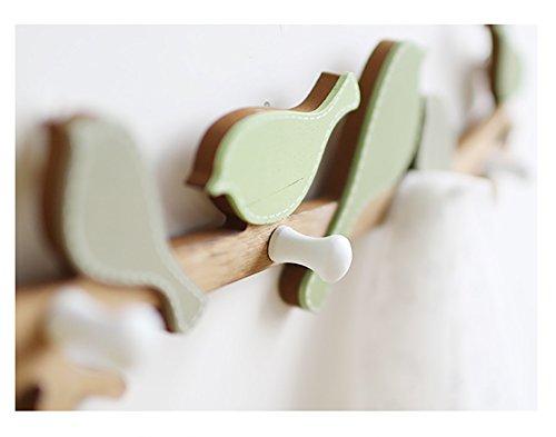 LFF- American Country Bird Wall-mounted Coat Rack Coat Hook Creative Entrance Porch Fittings Wall Hook Hanger by LFF-Coat Rack (Image #6)