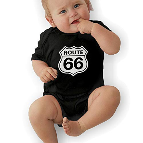 Route 66 Vacation Highway Road Sign Unisex Baby Short Sleeve Bodysuit