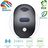 2018 Ultrasonic Pest Repeller with Latest Pest Control Tech-Plug in Indoor Electronic Mouse Pest Repellent for Ant, Fly, Spider, Mosquito, Roach-No Trap, Sprayer, Baits, Eco-friendly &Pet Safe