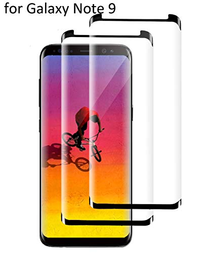Galaxy Note 9 Screen Protector, [2Packs] Full Screen Coverage Tempered Curved Glass [Easy Bubble-Free Installation] Scratch-Proof/Transparent/Clearness/Friendly Compatible with Samsung Galaxy Note 9