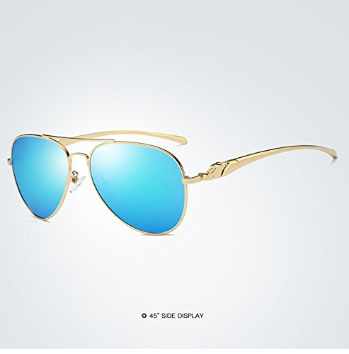de Mujeres de Gafas Retro Espejo polarizadas para Nuevo Sol Gafas de Gafas 7 Sol Adultos Marca para de de Sol de diseño Yao conducción clásico wngUqv48x