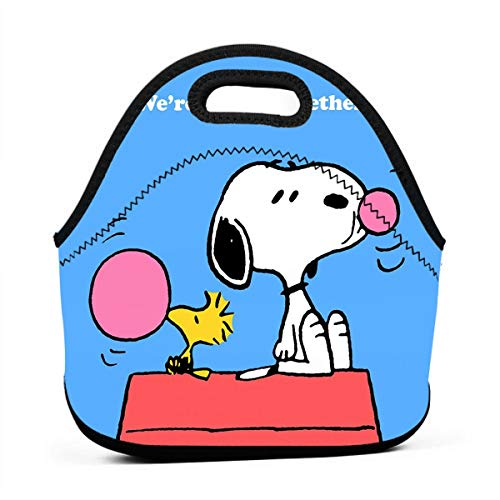 (LIUYAN Custom Portable Lunch Bag Snoopy Travel Containers for Women/Men & Kids)