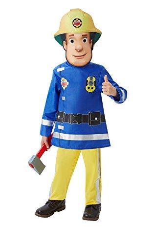 Fireman Sam Children's Costume Age 2-3 Years - Fireman Costume 2-3 Years