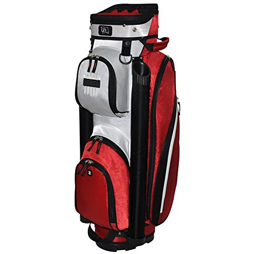 rj-sports-manhattan-cart-bag-red-9-inch