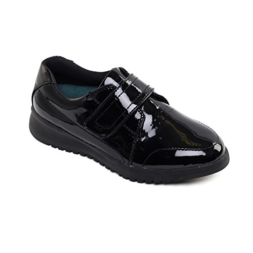 Fit Ee Scarpa Doppio Padders Fit Padders Extra Delle Donne Pelle Dual Extra In Leather Shoe Sistema Largo Nero Per Women's System Uk 'release' Calzascarpe To Footcare 'release' Libera Black Forma eee Shoehorn Wide In Uk Footcare Largo Ee Wide In Forma eee Free 0w0B76