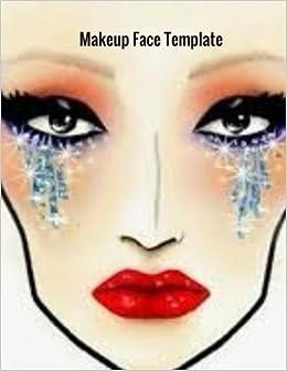 Makeup face template makeup face charts template ayens m makeup face template makeup face charts template ayens m 9781985366305 amazon books maxwellsz