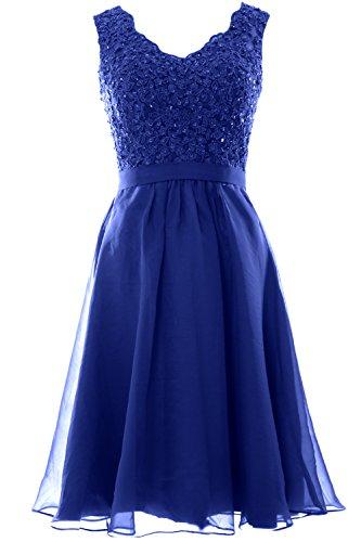 Vestito Donna ad Blue maniche Royal Senza a MACloth linea 7nWF7d