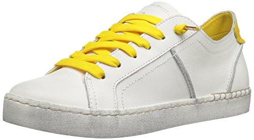 Dolce Vita Donna Zalen Fashion Sneaker Bianco / Giallo