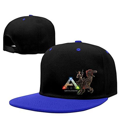 (Adjustable Kids Sun Hat Cool ARK Survival Evolved Snapback Flatbrim Sun Hats Hip Hop Baseball Caps Snapbacks for Boys Girls RoyalBlue)