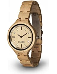 Womens Wooden Watch MARIA - Wrist Watch made of natural Maple Wood refined with Swarovski Crystals - Nature &...