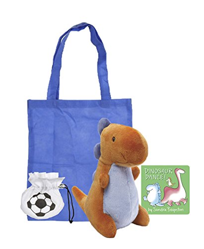 Crom Dinosaur Baby Stuffed Animal | Plush Stuffed Animal Toy with Dinosaur Dance! Board Book | Board Book and Toy Combo | With Reusable Blue Tote (Classic Nursery Rhymes Costumes For Kids)