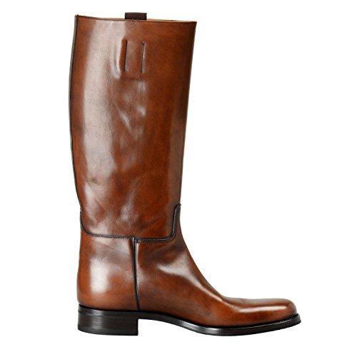 Prada Mens Deep Brown Leather Boots Shoes SZ US 8.5 IT 7.5 EU 41.5 4LQc1htJw