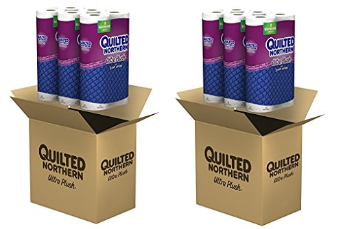 Quilted Northern Ultra Plush Septic-Safe Toilet Paper, 24 Supreme 3-Ply Toilet Paper Rolls (92+ Regular) (2 X 24PACK.)