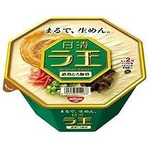 Nissin - Raoh, Japanese Instant Ramen Noodles, Pork Bone Soup, 4oz x 6 Bowls (For 6 Servings)[japan Import]