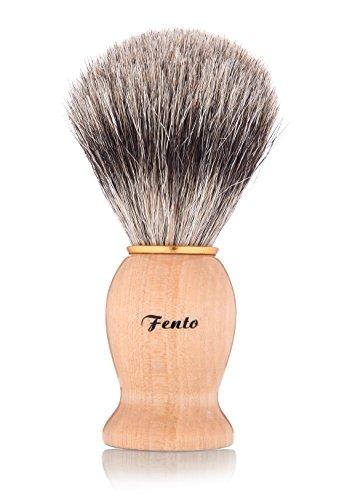 Fento Badger Hair Shaving Brush and Chrome Razor Stand by Fento (Image #2)