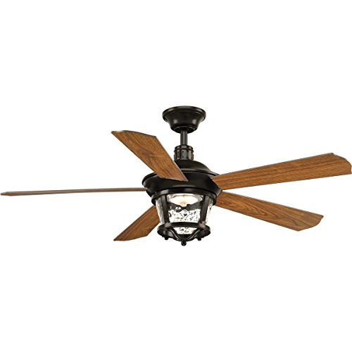 Progress Lighting P2576-2030K Smyrna 52″ Ceiling Fan, Antique Bronze