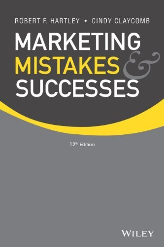Marketing Mistakes and Successes by Robert F. Hartley (14-Feb-2014) Paperback