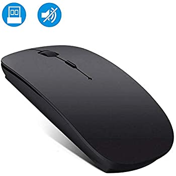 Wireless Mouse Rechargable, Computer Mouse, 2.4G Silent Mouse Computer Office Portable Mobile Optical Mouse with USB Receiver, 3 Adjustable DPI Levels for Laptop, Mac, MacBook, Notebook, PC, Computer