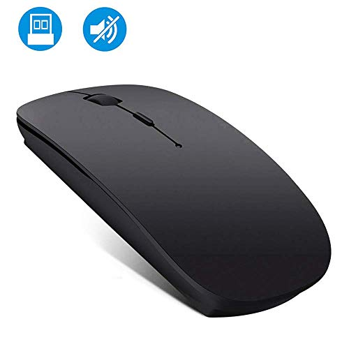 Wireless Mouse Rechargable, Computer Mouse, 2.4G Silent Mouse Computer Office Portable Mobile Optical Mouse with USB Receiver, 3 Adjustable DPI Levels for Laptop, Mac, MacBook, Notebook, PC, Computer (The Best Apple Laptop For Me)