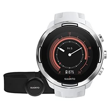 Suunto 9 Multisport GPS Watch with BARO and Wrist-Based Heart Rate (White with