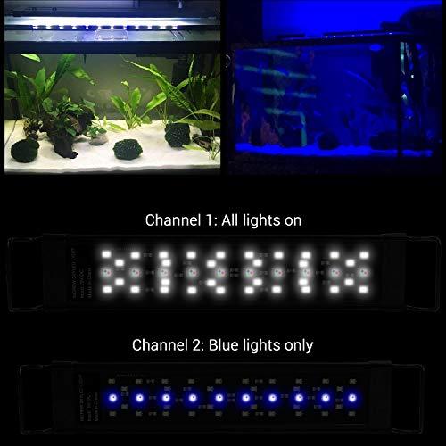 NICREW SkyLED Aquarium Light for Planted Tanks, Full Spectrum Freshwater Fish Tank Light, 12 to 18-Inch, 12-Watt