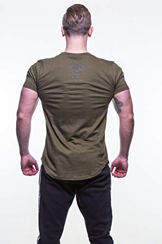 6dd0af2fd7581 MUSCLE GYM Mens T-Shirt Top, Stringers Bodybuilding Army Green T ...