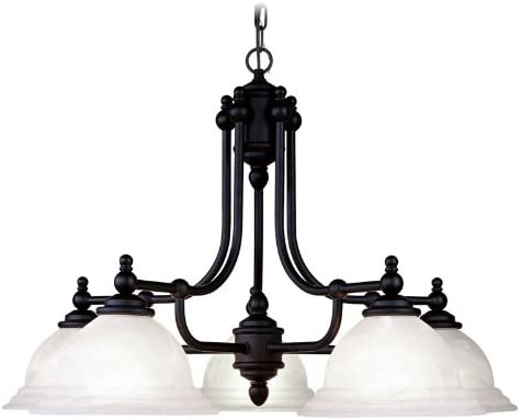 Livex Lighting 4255-04 North Port 5 Light Black Chandelier