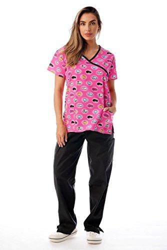 (Just Love Nursing Scrubs Set for Women Print Scrubs 1311W-34-XL)