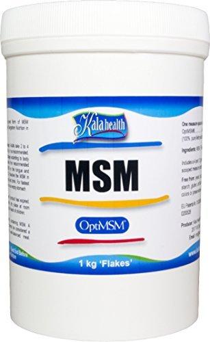 Kala Health   Optimsm   Methylsulfonylmethane  Msm Powder Coarse Flakes  Crystals  1000G  Pure Msm Supplement  Produced In The United States Of America  By Kala Health