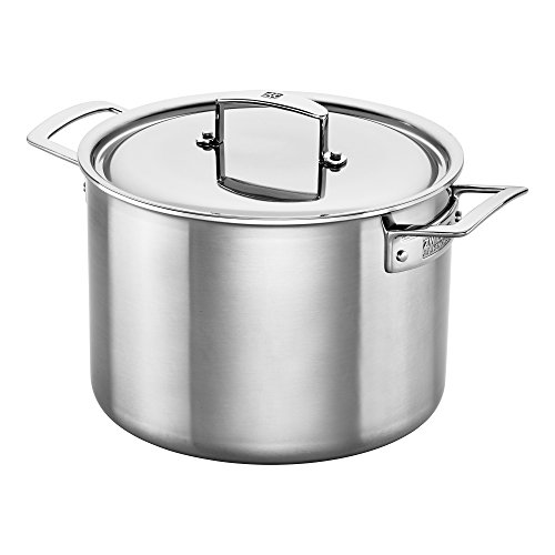 Zwilling J.A. Henckels 66083-240 Aurora 5-Ply Stainless Steel Stockpot, 8 quart, Silver