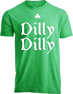 Vatolily Mens St Patricks Day Shirt Funny Irish Graphic Short Sleeve Tees Distressed Dilly Dilly Trump T-Shirt