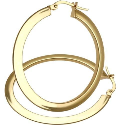Citerna - AR001Y - Boucles d'Oreille Femme - Or Jaune 375/1000 (9 Cts) 1.6 Gr - Verre