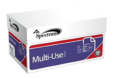 GP Spectrum MultiUse Paper, 8.5 x 11 Inches Letter Size, 92 Bright White, 24 Lb, 10 Reams/Carton (5000 Sheets) (999707C)
