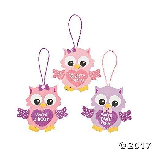 Foam Valentine Owl Ornament Craft Kit (1 Dozen)/arts & Crafts/valentine's Day/activities/toys/school Projects