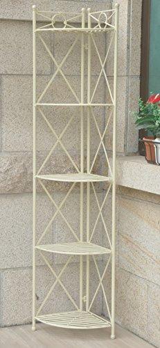 Iron 5-Tier Indoor/Outdoor Corner Shelf Rack