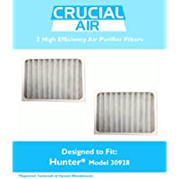 2 Hunter 30928 Air Purifier Filters, Fits Hunter Models 30057, 30059, 30067, 30078, 30079 & 30124, Designed & Engineered by Crucial Air