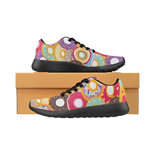 InterestPrint Womens Jogging Running Sneaker Lightweight Go Easy Walking Comfort Sports Athletic Shoes Multi 2 VJkFj
