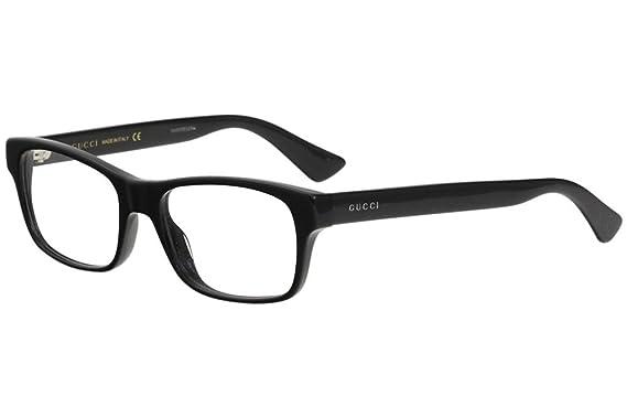 Amazon.com: Gucci GG0006O Optical Frame 001 Black Black Transparent ...