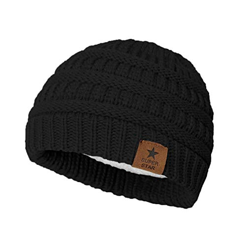 American Trends Baby Soft Warm Thick Infant Winter Babies Hats Toddler Knitted Fleece Lined Caps Beanies for Boys Girls