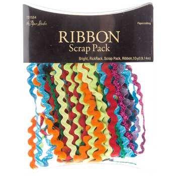 - Ribbon Scrap Pack Assortments - 36 Feet - Bright Ric Rac