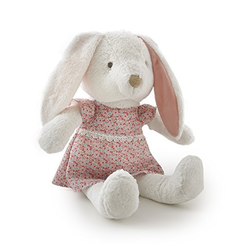Levtex Home Baby Charlotte Bunny Plush Toy, Coral