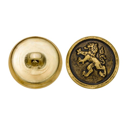 C&C Metal Products 5280 Chinese Lion Metal Button, Size 30 Ligne, Antique Gold, 36-Pack by C&C Metal Products Corp