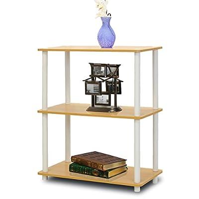 FURINNO 10024GYW/BK Turn-N-Tube 3-Tier Compact Multipurpose Shelf Display Rack, French Oak Grey/black -  - living-room-furniture, living-room, bookcases-bookshelves - 41hY0ssM30L. SS400  -